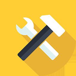Signage Tools on yellow backround