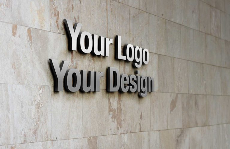 metal 3d letters spaced off wall ideal entry or recepeption signs