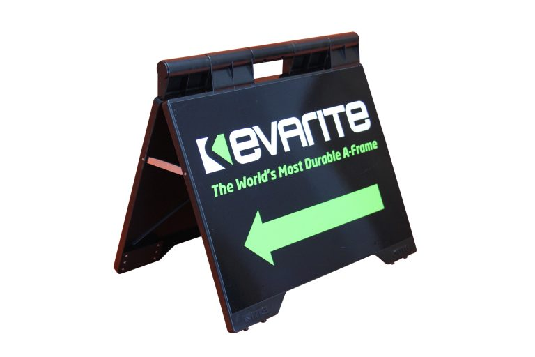 realestate flip over plastic a frame evarite brand